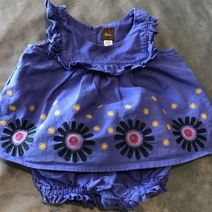 Tea Baby Girl Dress with Bloomers